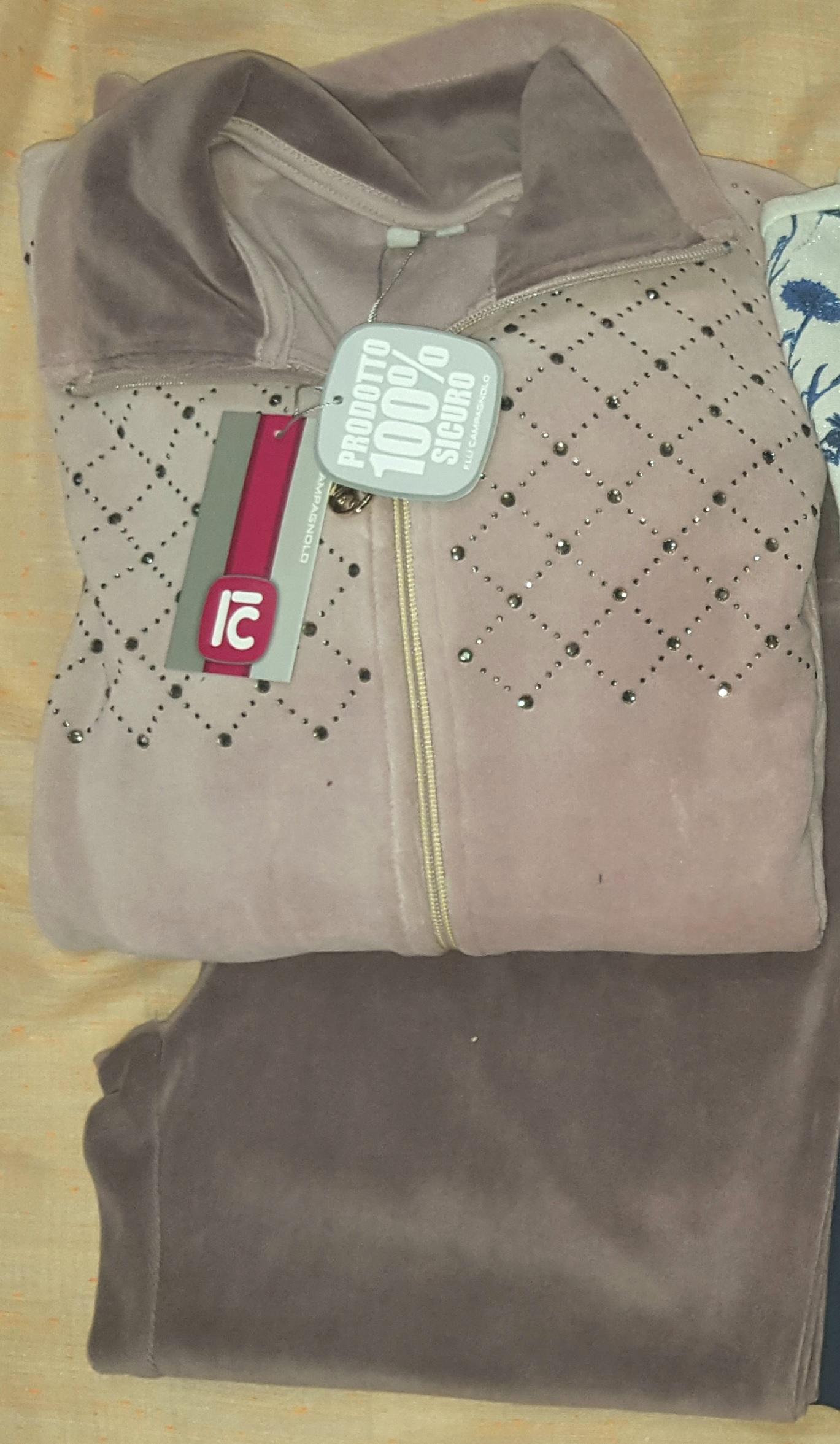 F.LLI Campagnolo Tuta da Donna in Cotone Leggero con Zip